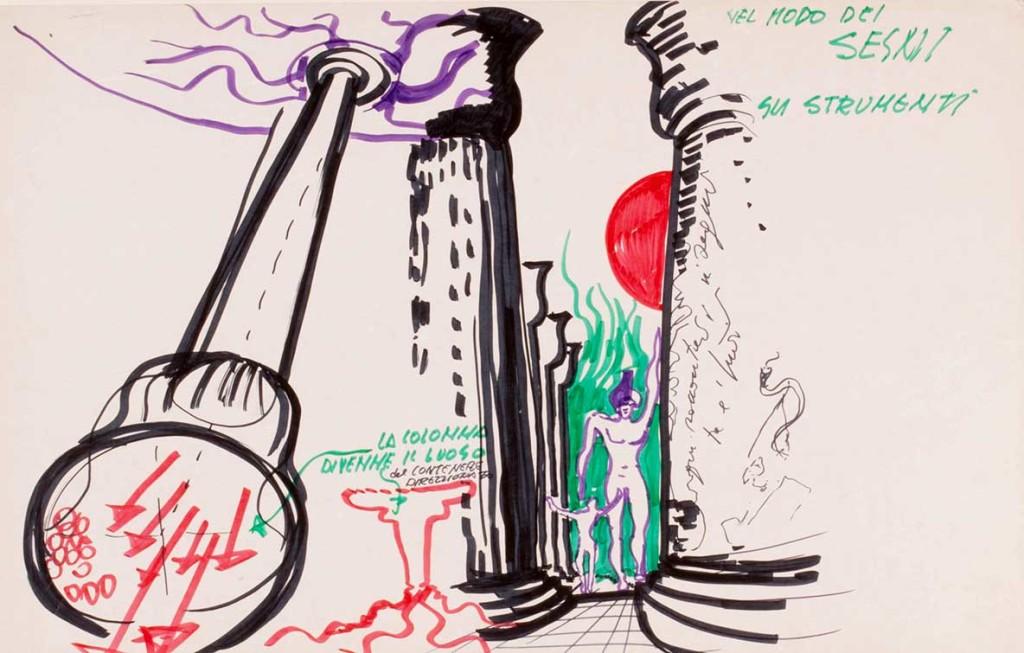Luigi Pellegrin - Dal ciclo di disegni La rilettura della nostra storia - 1972 - 2