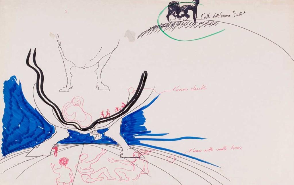 Luigi Pellegrin - Dal ciclo di disegni La rilettura della nostra storia - 1972 - 3