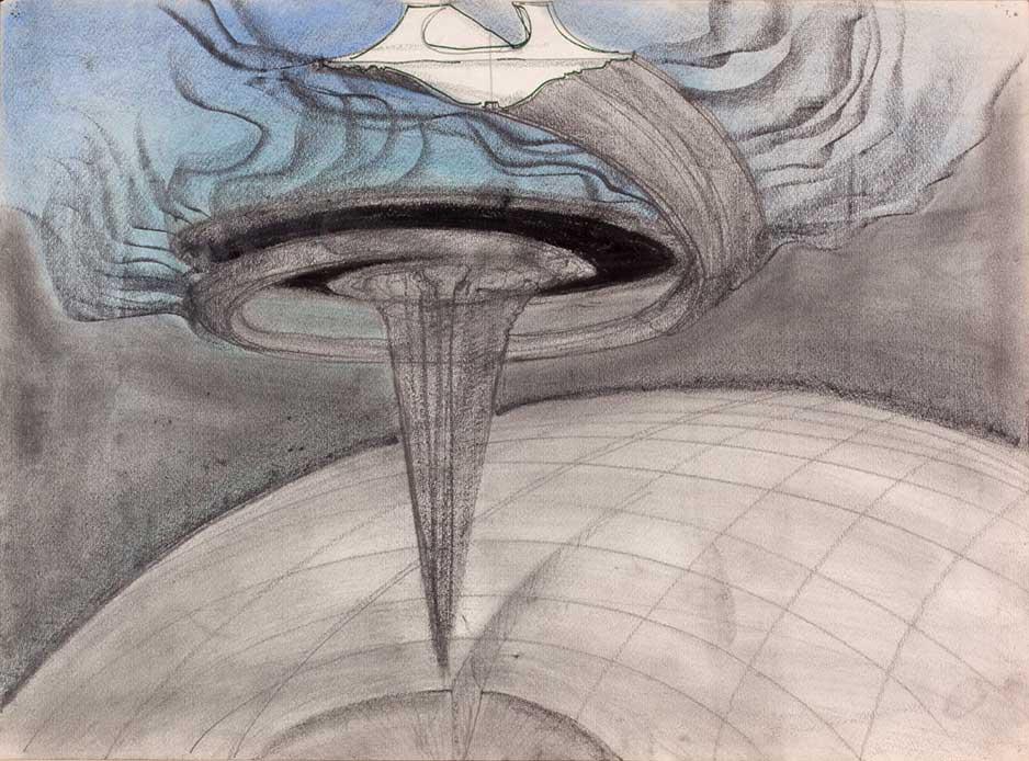Luigi Pellegrin - Dal ciclo di disegni Il progetto che arriva dall'alto - 1984
