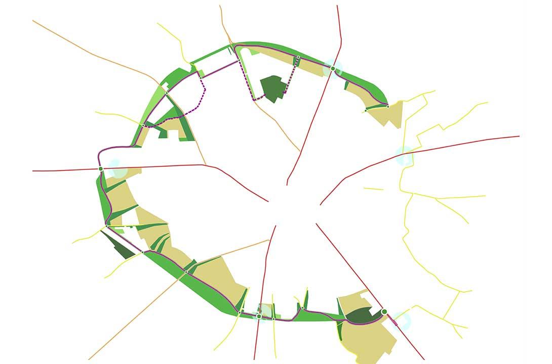 Paolo Colarossi - Margine urbano - Mura verdi di San Severo